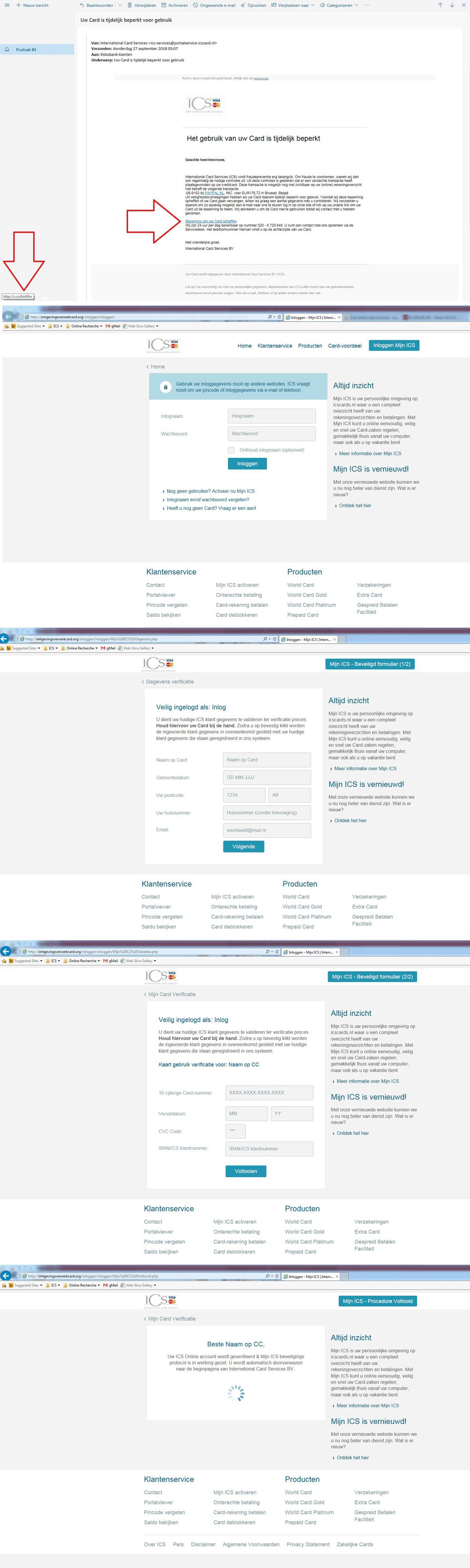 voorbeelden van phishing berichten